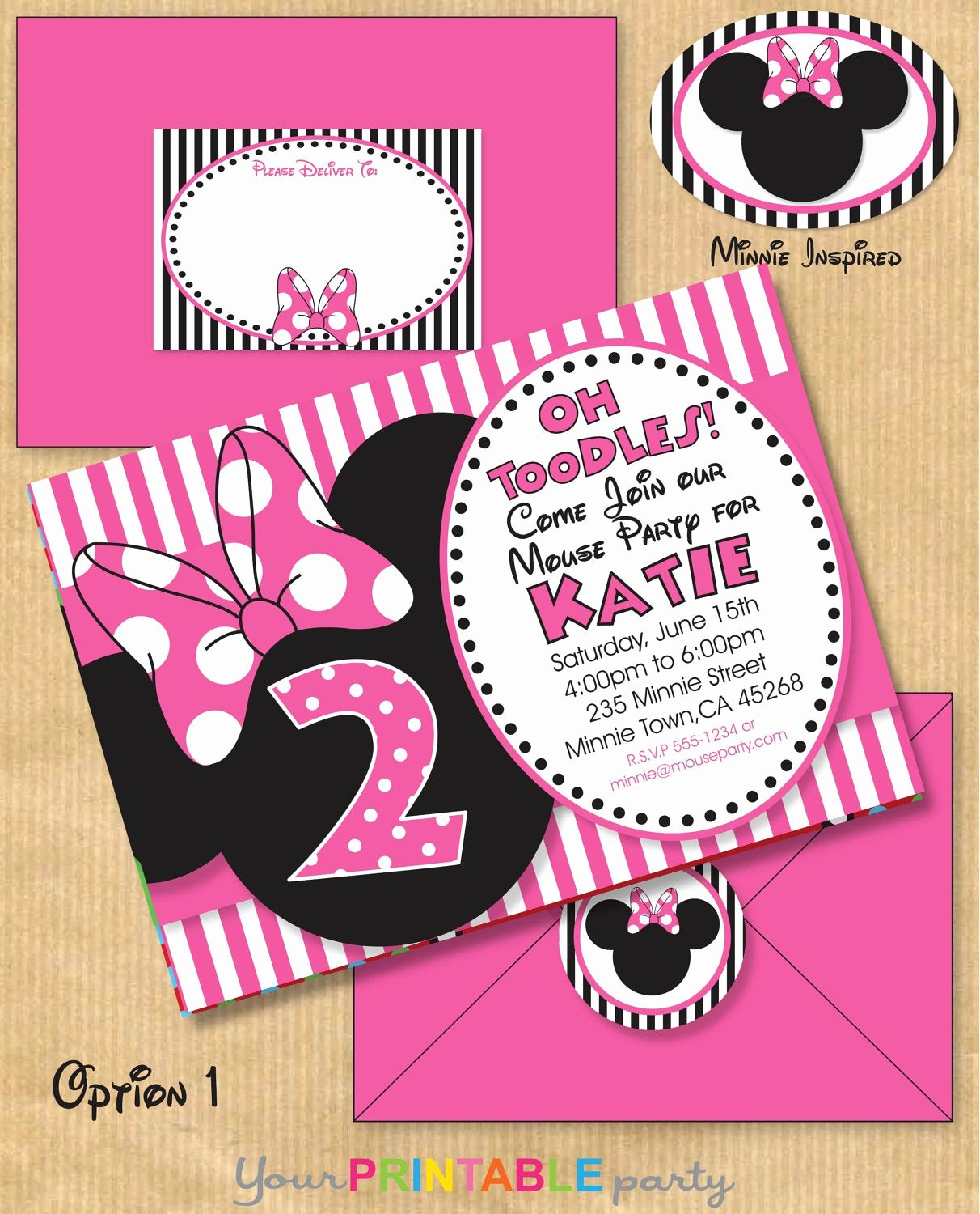 Minnie Mouse Party Invitations New Minnie Mouse Inspired Birthday Party by Yourprintableparty