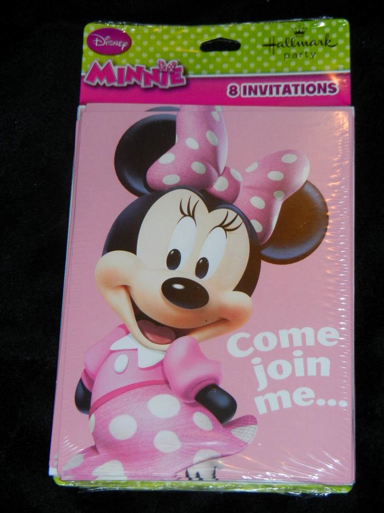 Minnie Mouse Party Invitations Unique Hallmark Brand Minnie Mouse Birthday Party Invitations