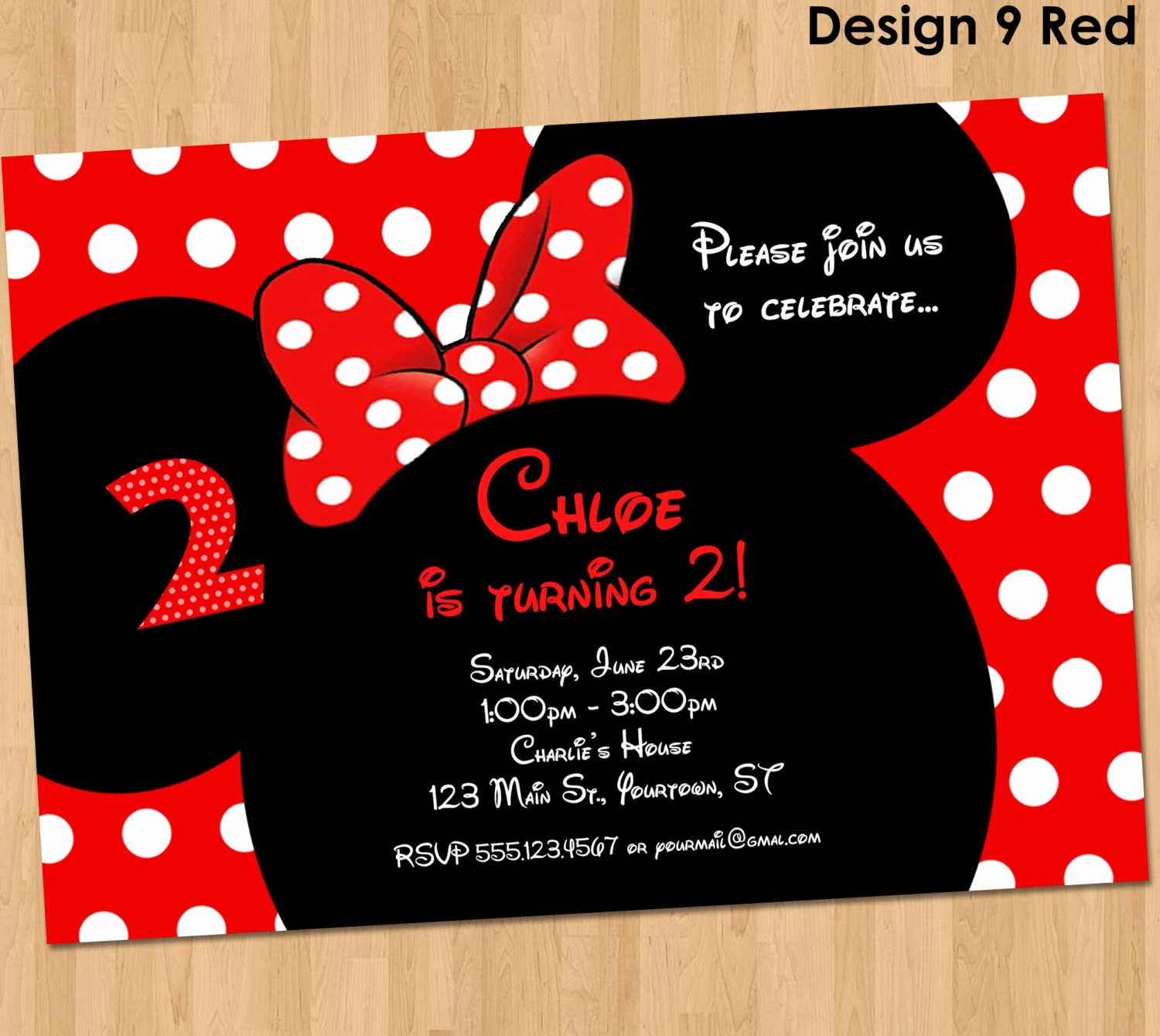 Minnie Mouse Party Invitations Unique Minnie Mouse Invitation Printable Birthday Party Custom