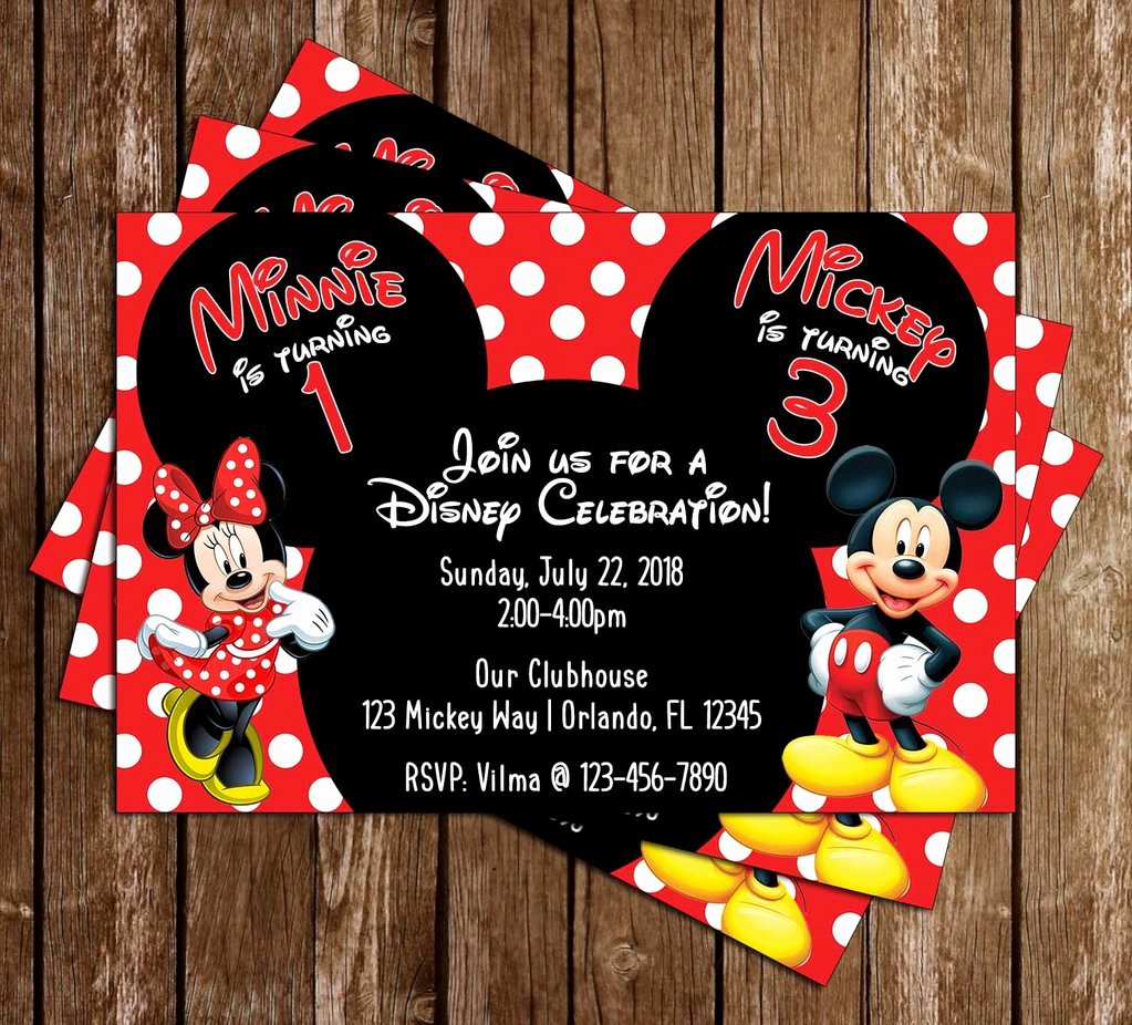 Minnie Mouse Party Invitations Unique Novel Concept Designs Mickey Mouse & Minnie Mouse