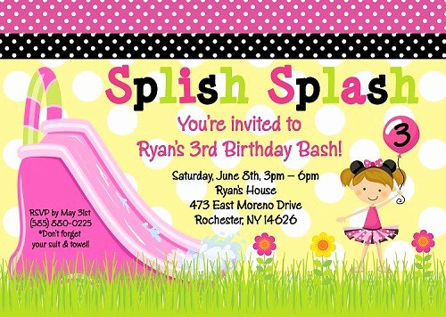 Minnie Mouse Pool Party Invitations New Minnie Mouse Pool Party Birthday Invitation Printable or