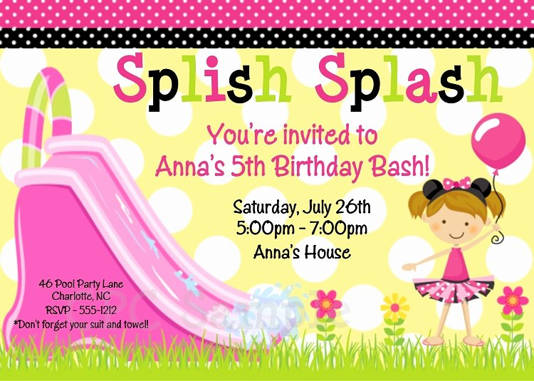 Minnie Mouse Pool Party Invitations New Minnie Mouse Water Slide Invitations Pool Party Printable