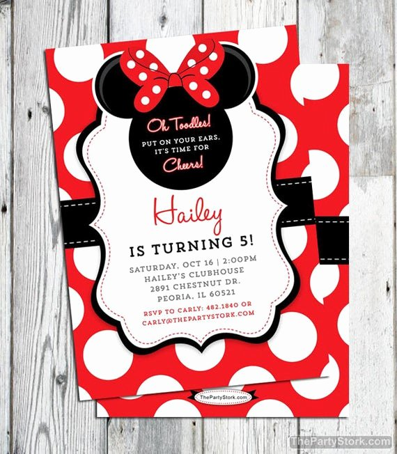 Minnie Mouse Red Invitations Awesome Minnie Mouse Invitation Red Printable Minnie Mouse