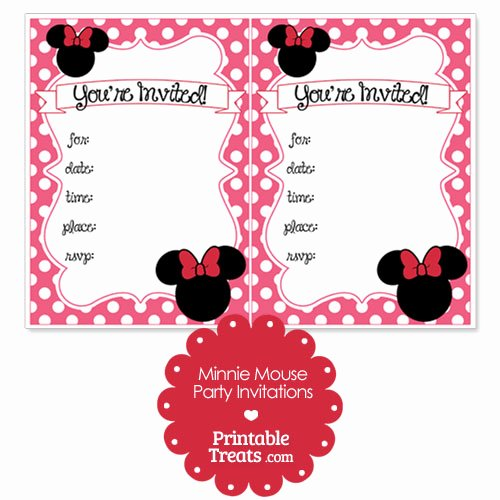 Minnie Mouse Red Invitations Beautiful Printable Pink Minnie Mouse Invitations — Printable Treats