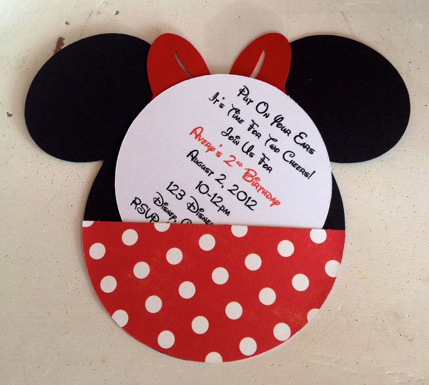 Minnie Mouse Red Invitations Best Of Handmade Custom Red Minnie Mouse Birthday Invitations Set Of