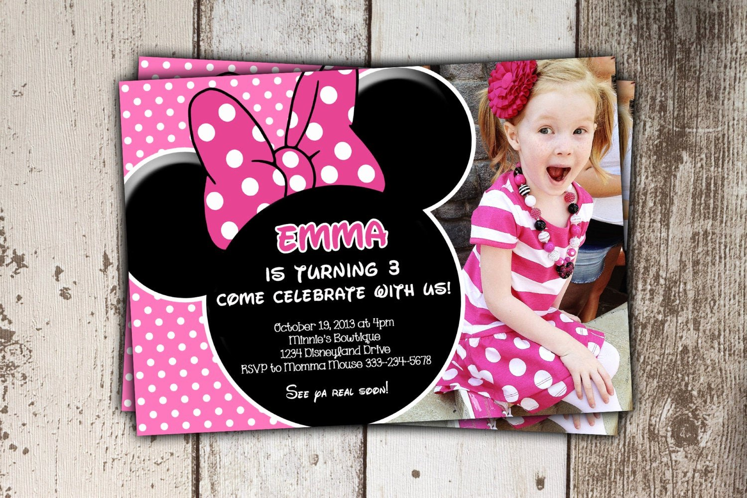Minnie Mouse Red Invitations Lovely Minnie Mouse Invitations Pink Birthday Invitations with