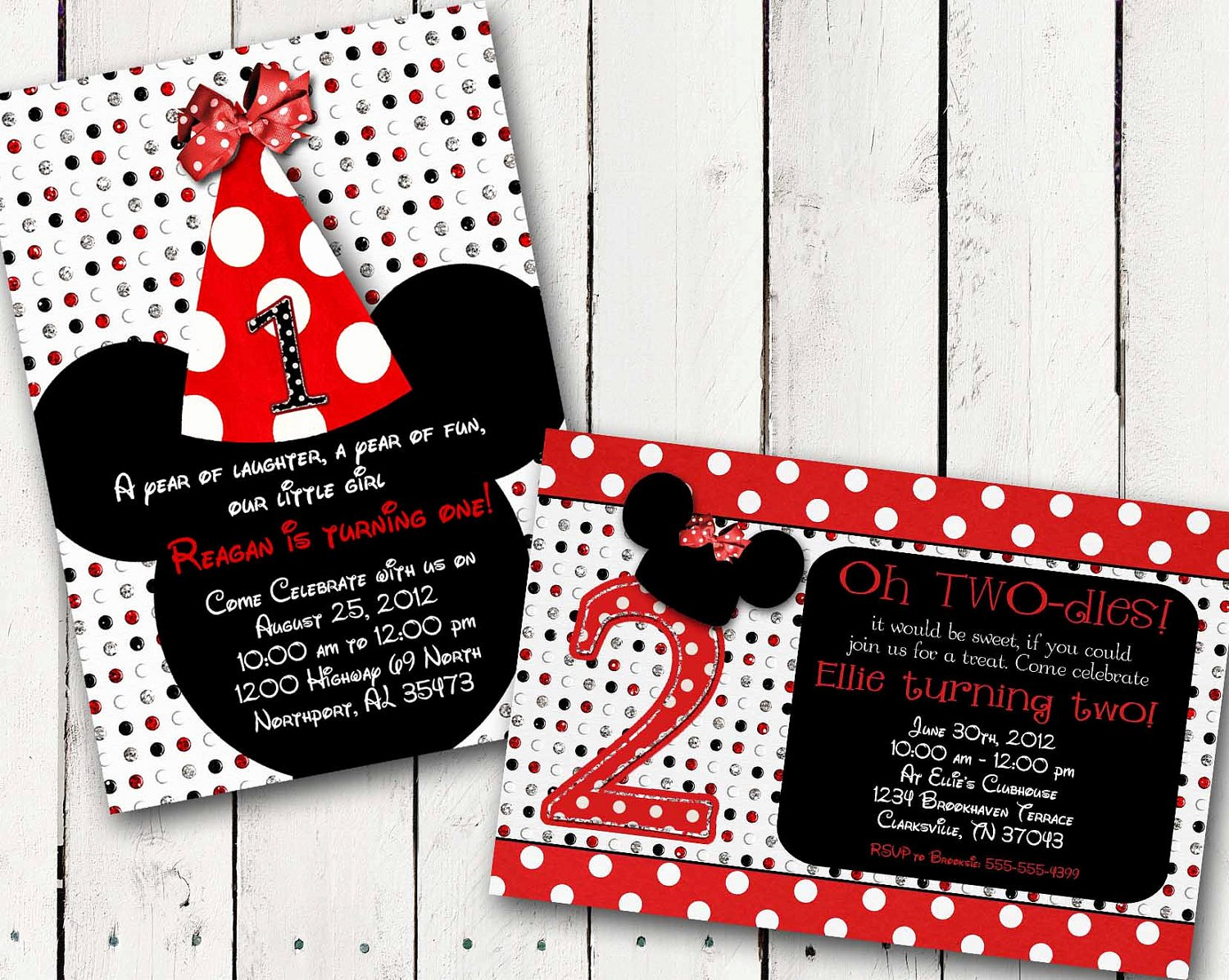 Minnie Mouse Red Invitations Lovely Red Minnie Mouse Custom Birthday Printable Disney Invitations