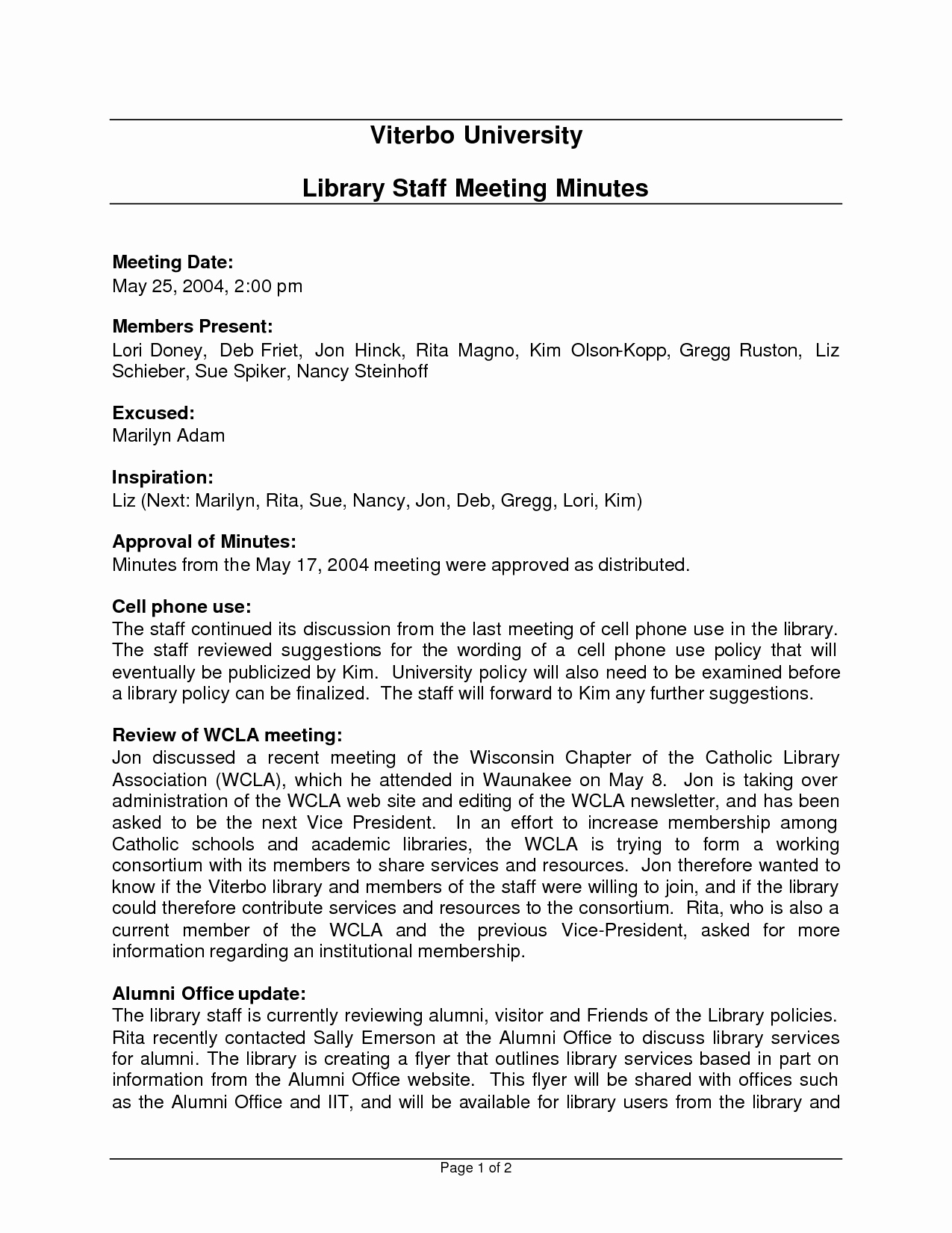 Minutes Of Meeting Email Fresh Best S Of Staff Meeting Minutes Template Email