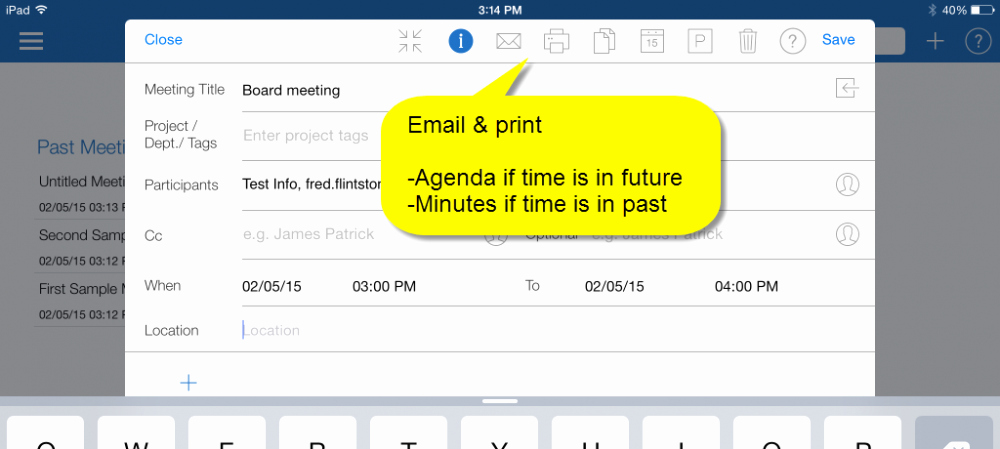 Minutes Of Meeting Email Inspirational Sharing and Emailing Agenda & Minutes Meetingking Ipad 1
