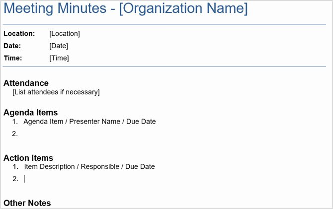 Minutes Of Meeting Email Lovely 12 Best Meeting Minutes Templates for Professionals