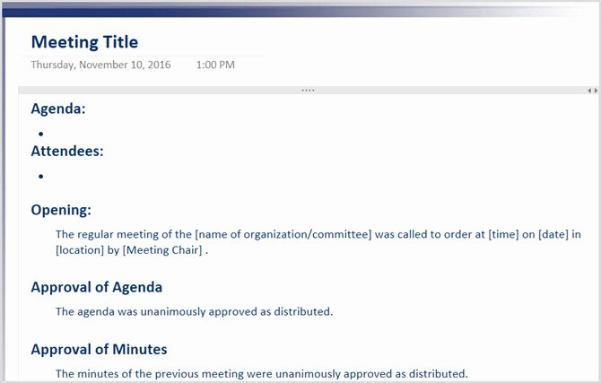 Minutes Of Meeting Email New the 12 Best Meeting Minutes Templates for Professionals