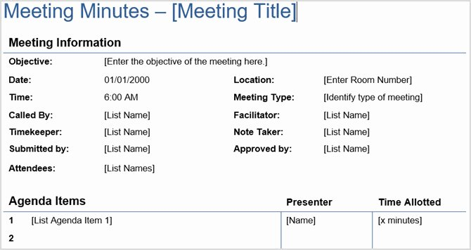 Minutes Of Meeting Email New the Perfect Meeting Blueprint Templates Included