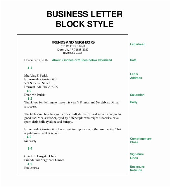 Modified Block Letter format Awesome 25 Business Letter Templates Pdf Doc Psd Indesign