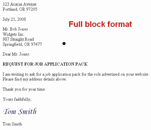 Modified Block Letter format Beautiful How to format A Us Business Letter