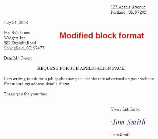 Modified Block Letter format Best Of Eprimbon Riska Business Letter