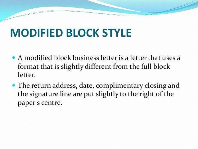 Modified Block Letter format Elegant Business Letters and Different Styles