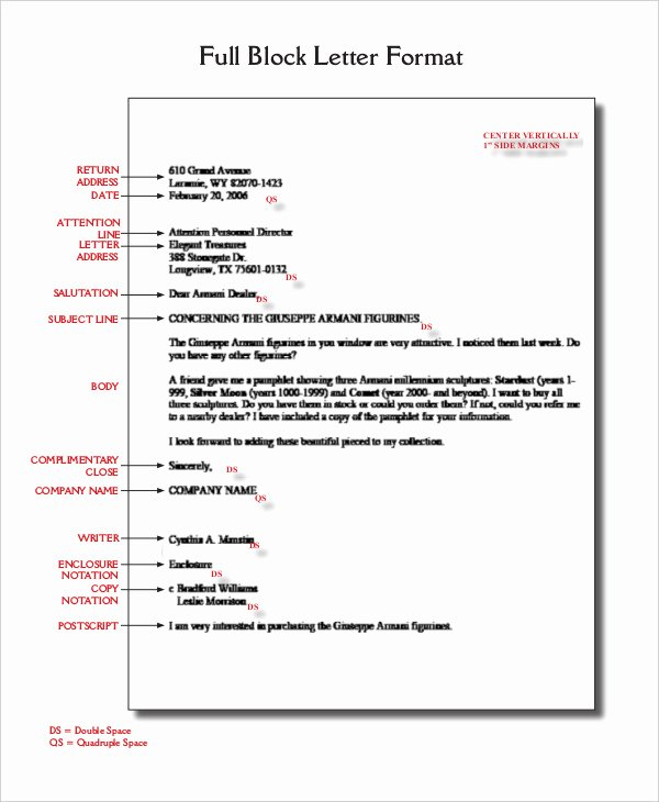 Modified Block Letter format Luxury Block Letter format Template 8 Free Word Pdf Documents