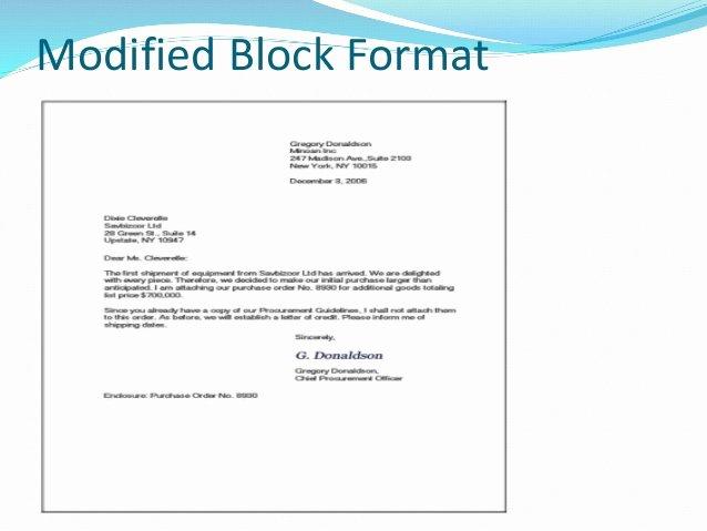 Modified Block Letter format Luxury Business Letter formats