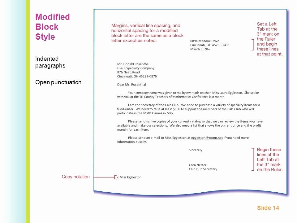 Modified Block Letter format Unique 2 3 Business Letter Layout