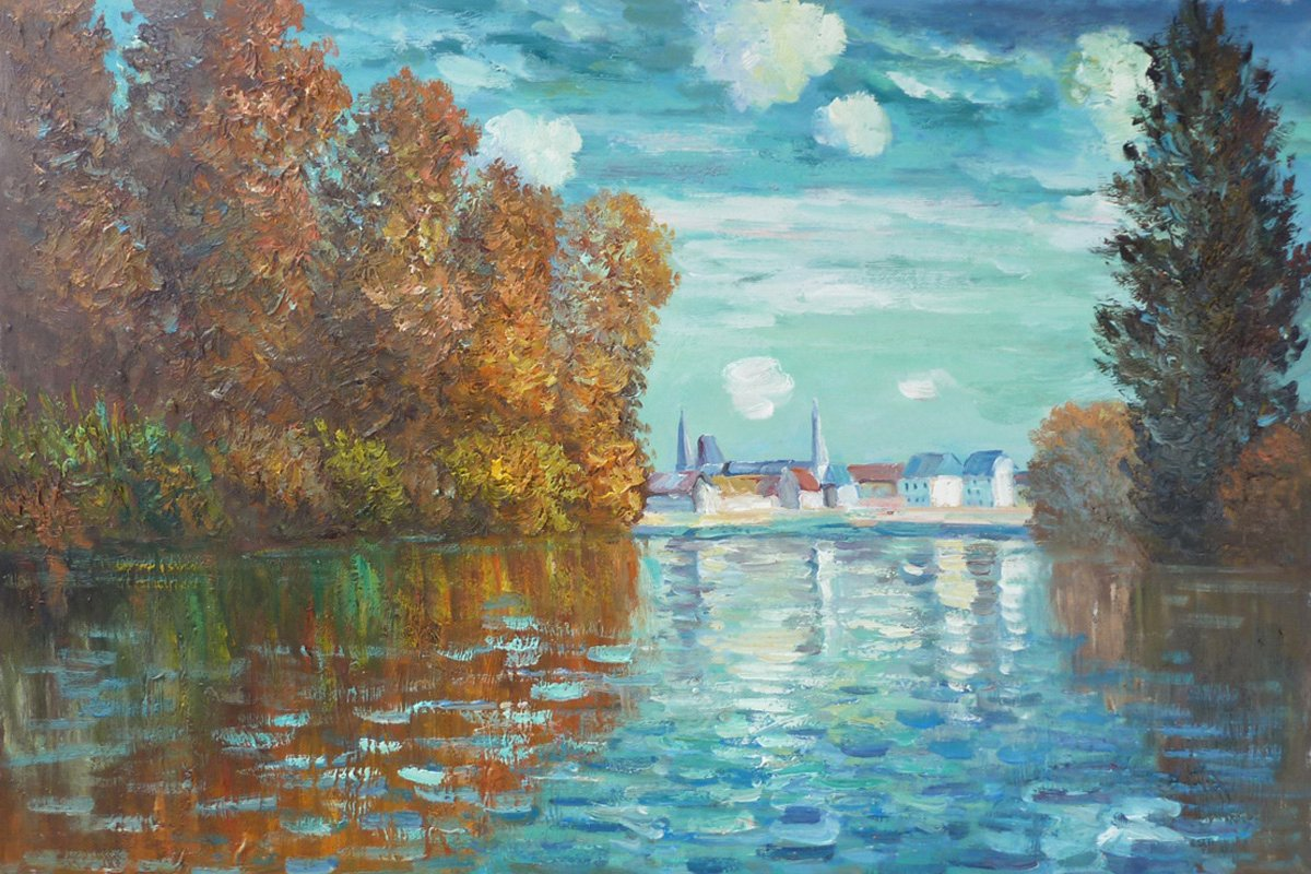 Monet Images Of Paintings Best Of Autumn at Argenteuil Claude Monet S Paintings for Sale On