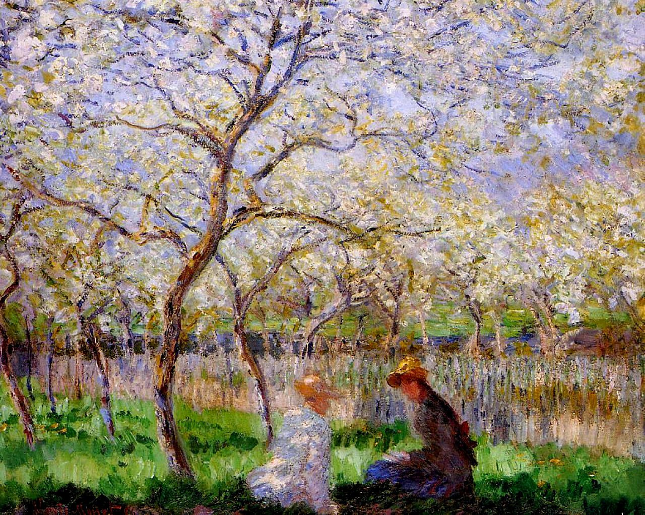 Monet Images Of Paintings Luxury Springtime 1886 Claude Monet Wikiart