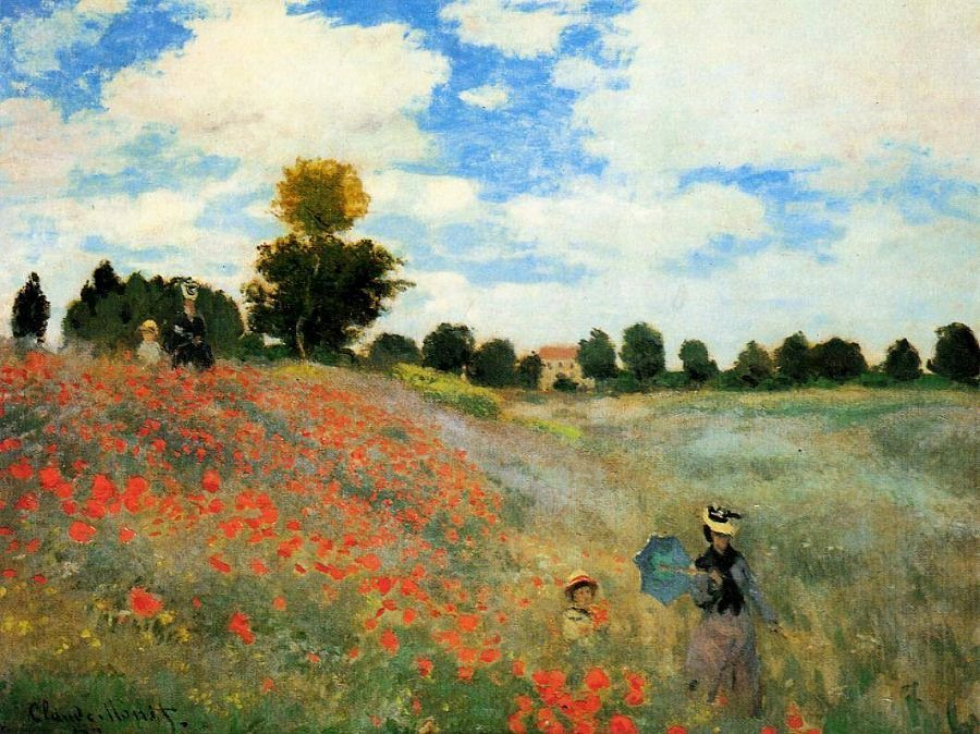 Monet Images Of Paintings Luxury the Poppy Field Near Argenteuil 1873 by Claude Monet