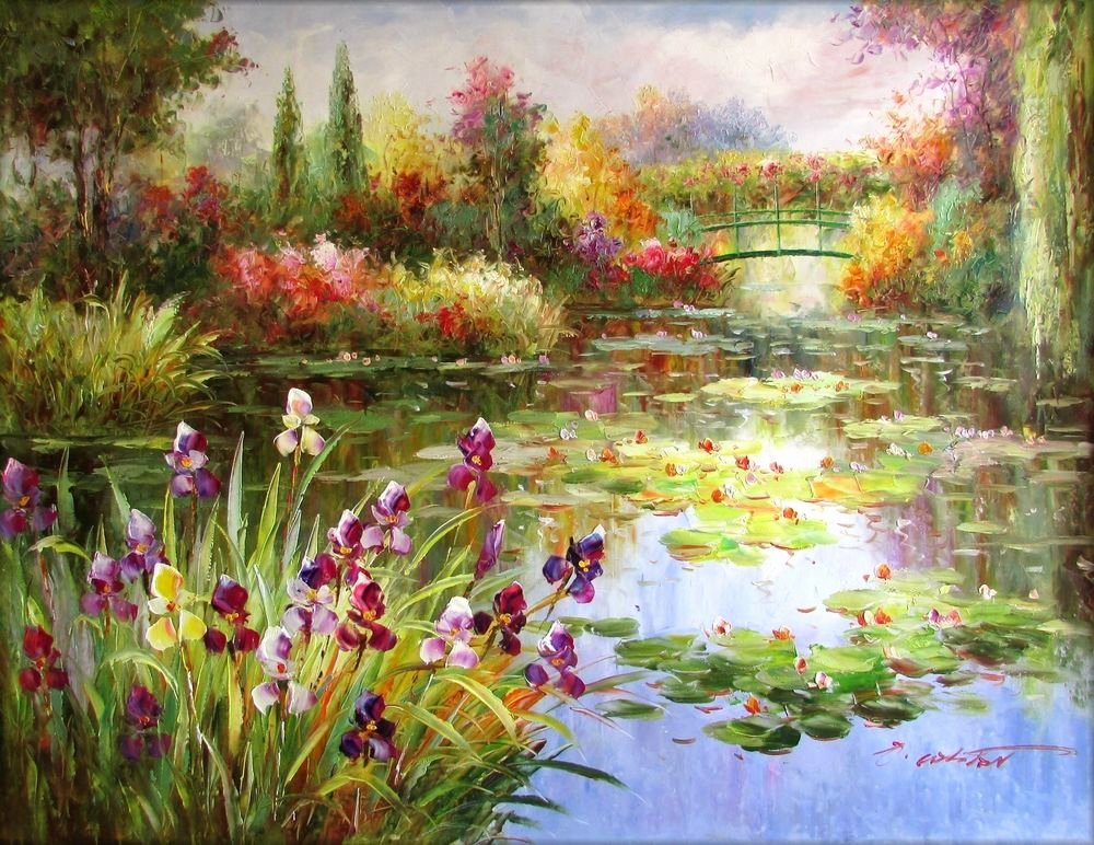 Monet Images Of Paintings Unique Claude Monet Colorful Water Lily Pond Repro 14 Hand