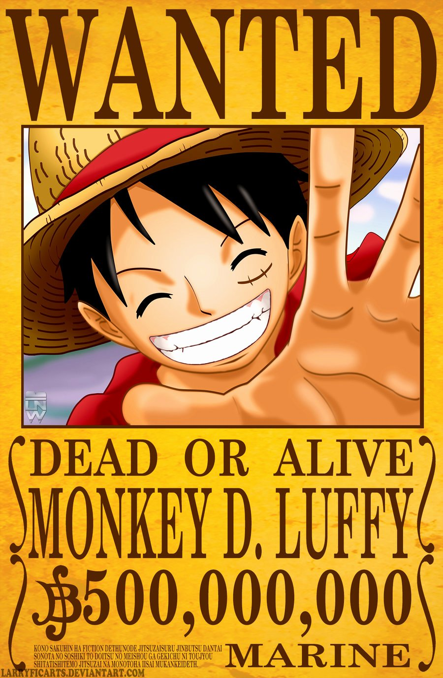 Monkey D Luffy Wanted Poster Awesome E Piece Wanted Poster Luffy