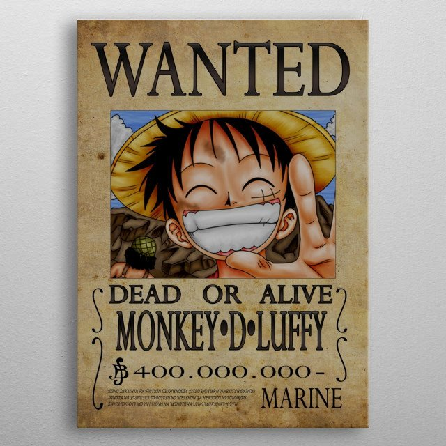 Monkey D Luffy Wanted Poster Beautiful Wanted Of Monkey D Luffy From by Nicolas Massot