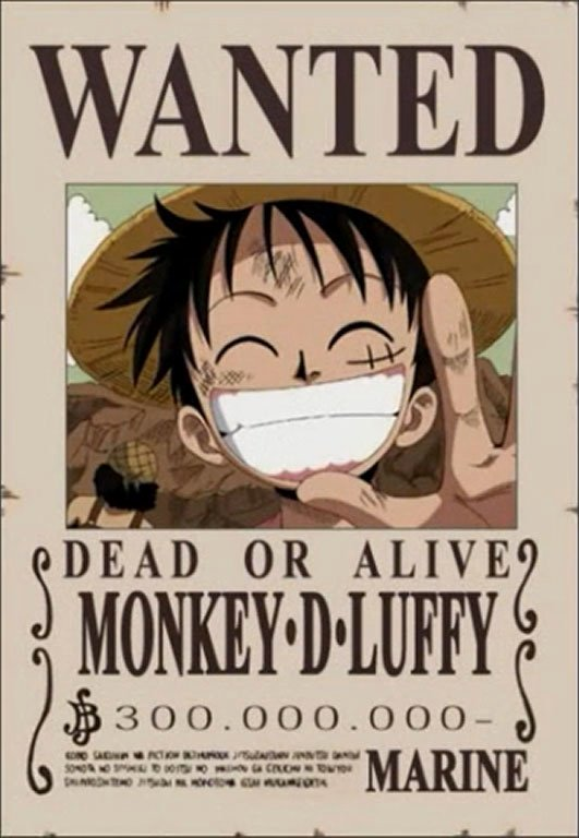 Monkey D Luffy Wanted Poster Best Of Free Famous Cartoon E Piece Straw Hat
