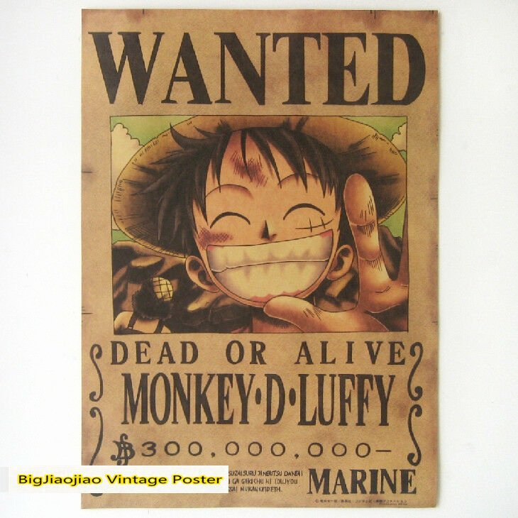 Monkey D Luffy Wanted Poster Best Of One Piece Wanted Poster Monkey D Luffy Reward that Anime