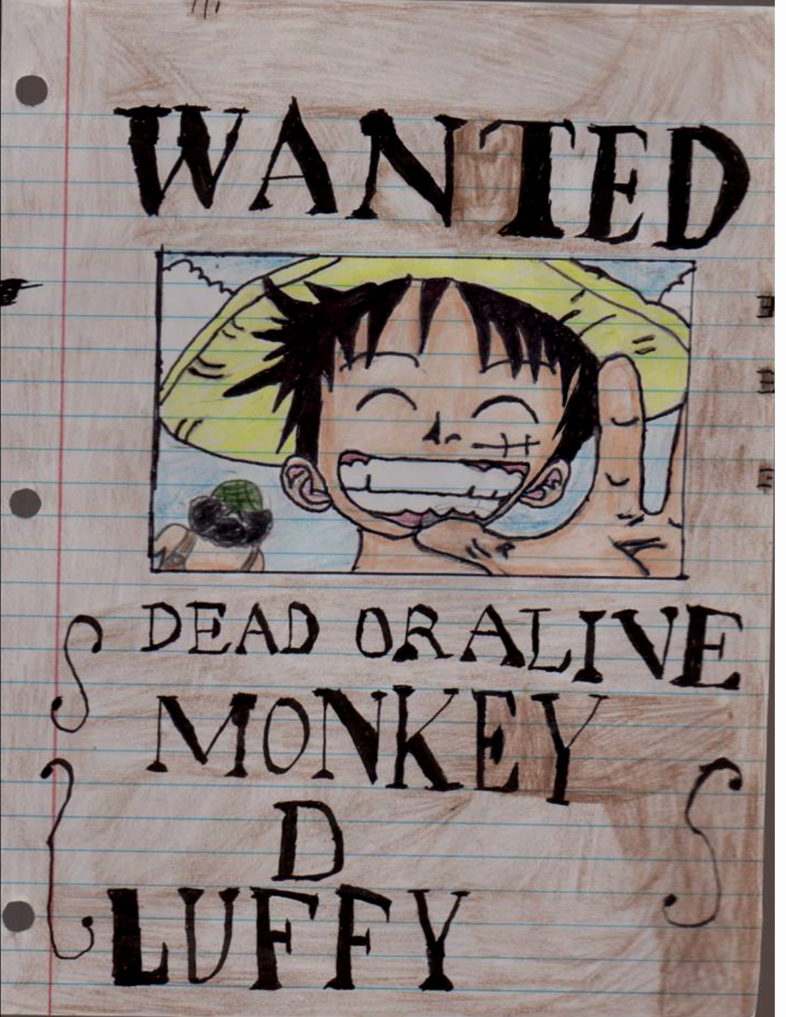 Monkey D Luffy Wanted Poster Fresh E Piece Wanted Poster Luffy
