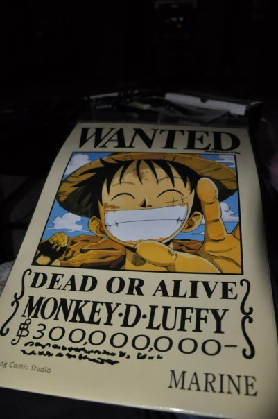 Monkey D Luffy Wanted Poster Fresh Monkey D Luffy