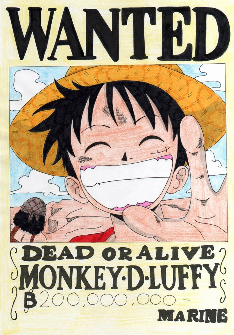 Monkey D Luffy Wanted Poster Inspirational Monkey D Luffy 11 by Candycanecroft On Deviantart