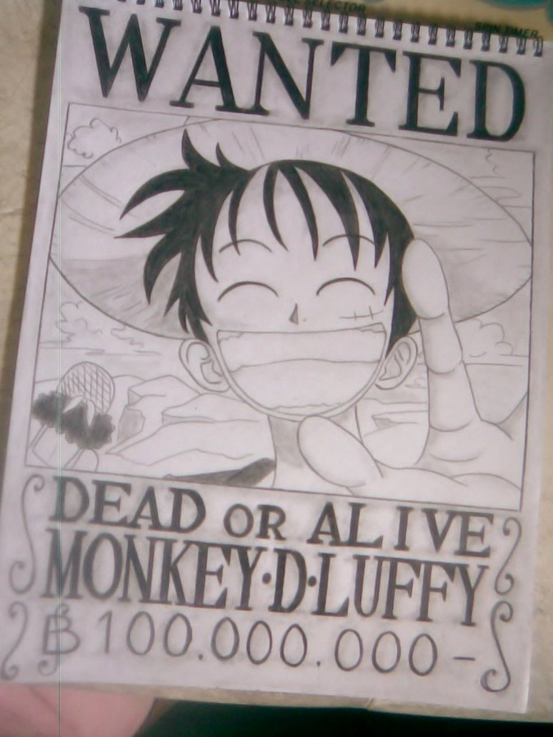 Monkey D Luffy Wanted Poster Lovely Wanted Poster Monkey D Luffy by Yuriko18eunice On