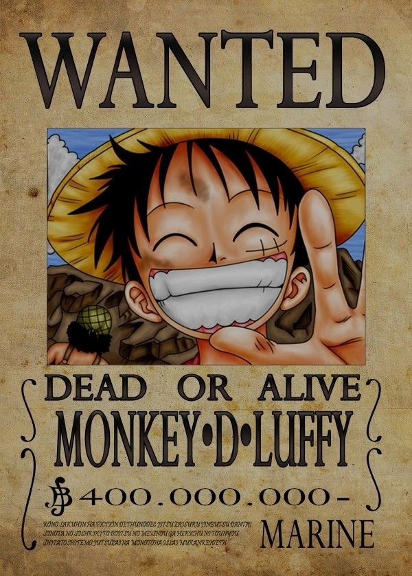 Monkey D Luffy Wanted Poster New Wanted Of Monkey D Luffy From by Nicolas Massot