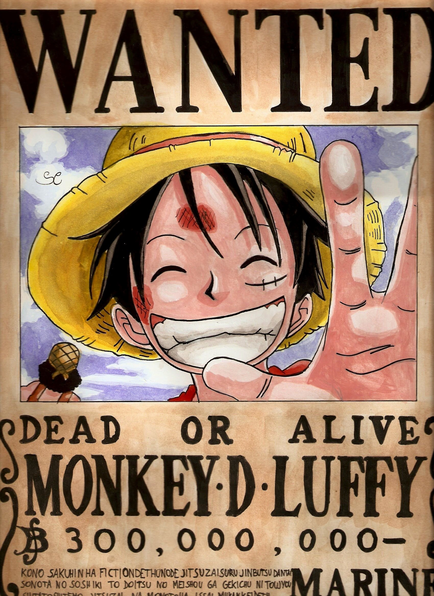 Monkey D Luffy Wanted Poster New Wanted Poster E Piece Wallpapers Wallpaper Cave