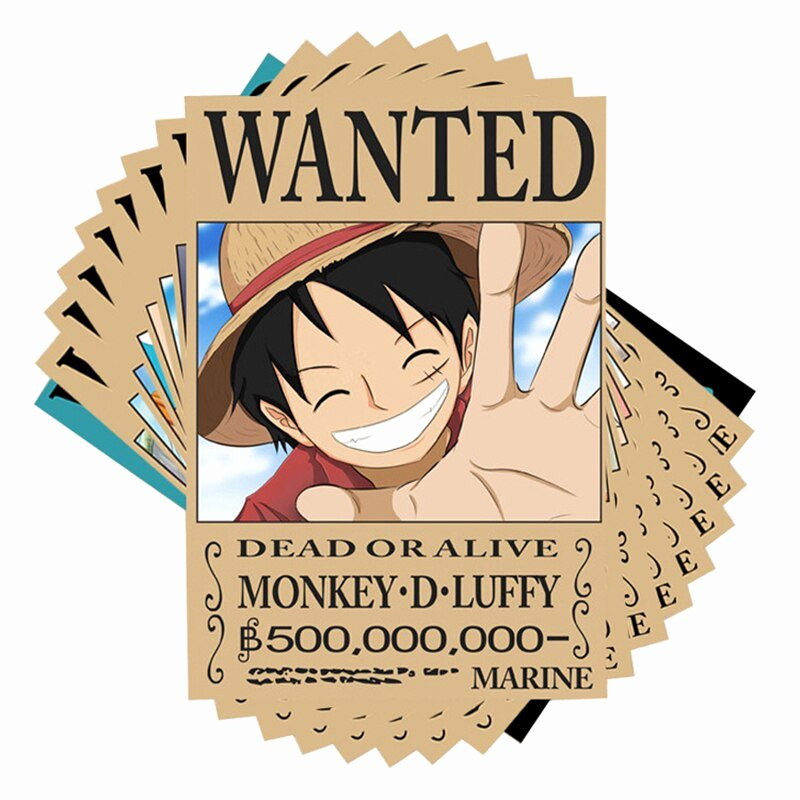 Monkey D Luffy Wanted Poster Unique Animation Periphery Wallpaper E Piece Poster Reward