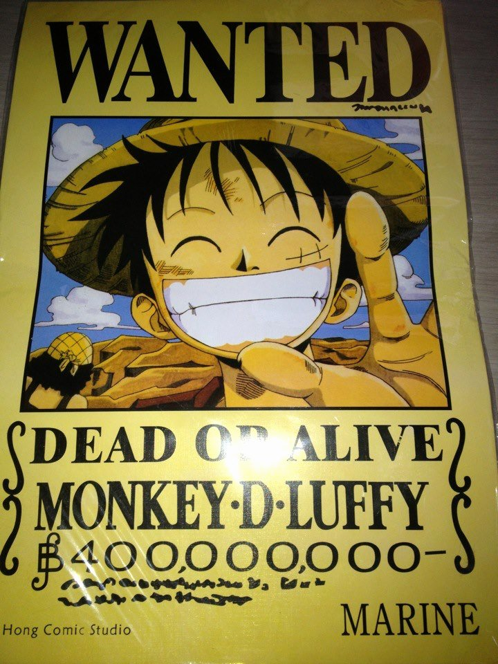 Monkey D Luffy Wanted Poster Unique Jculturey E Piece Christmas Special Sale Promotion