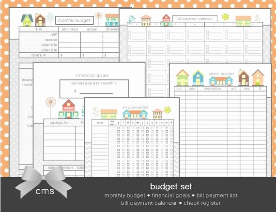 Monthly Budget Calendar Printable Fresh Bud Planner Printable Set Includes Monthly by
