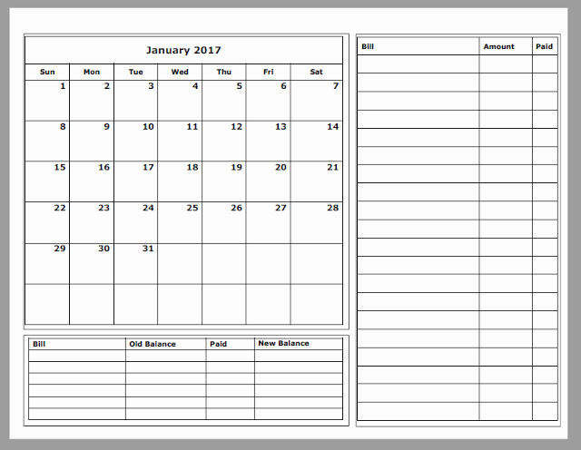 Monthly Budget Calendar Printable Fresh Grace Christian Homeschool Free 2017 Bud Calendars
