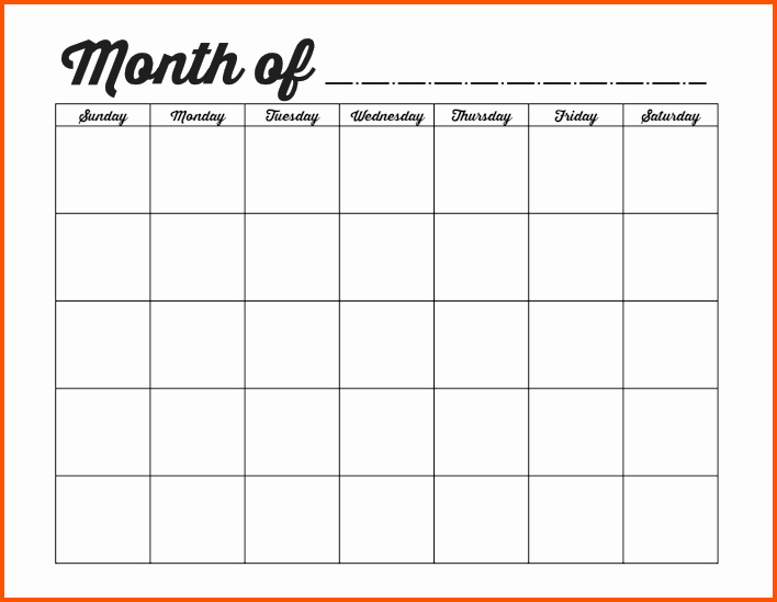 Monthly event Calendar Template Best Of 10 Blank Weekly Calendar Template