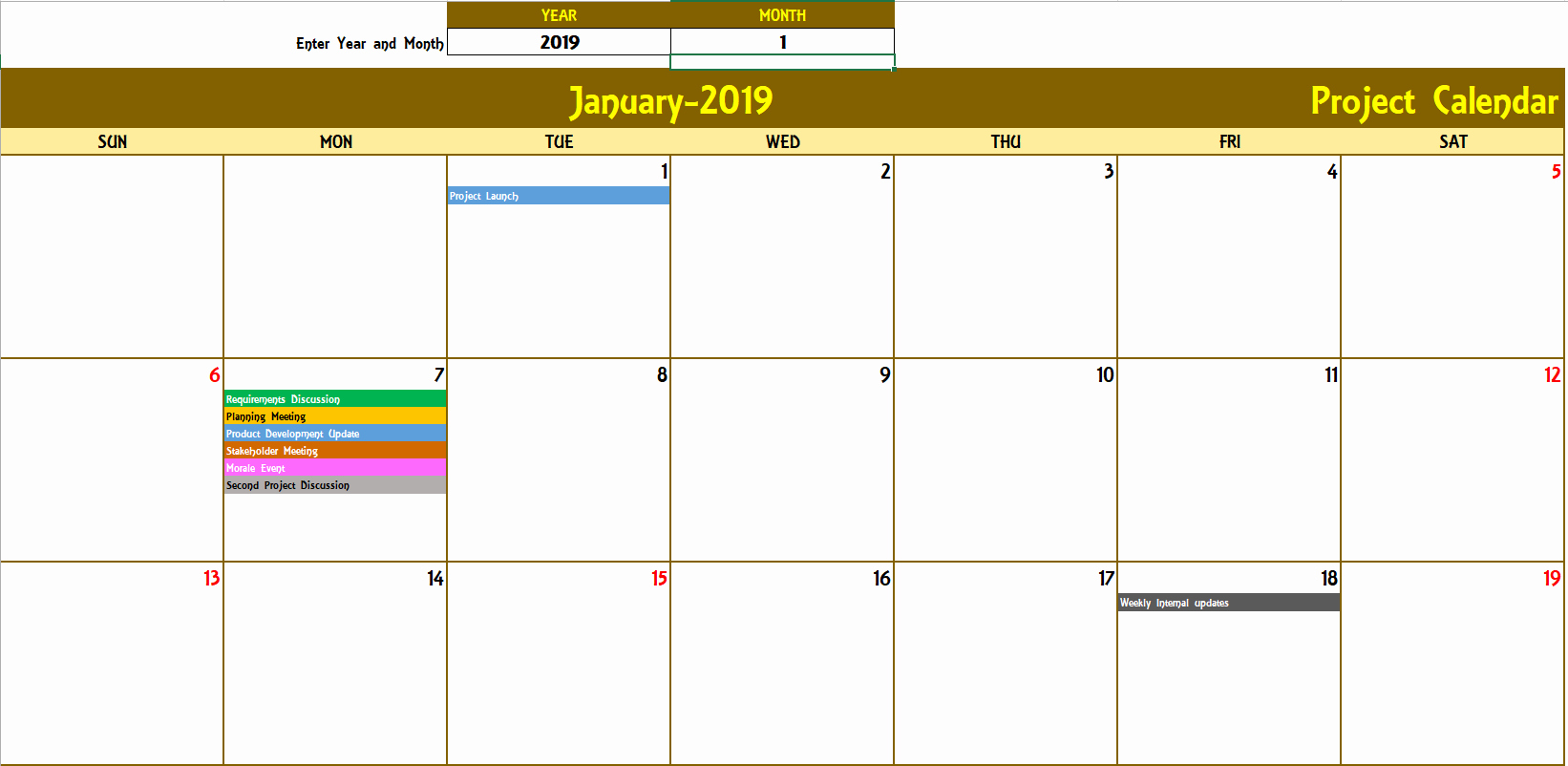 Monthly event Calendar Template Fresh Excel Calendar Template Excel Calendar 2019 2020 or Any