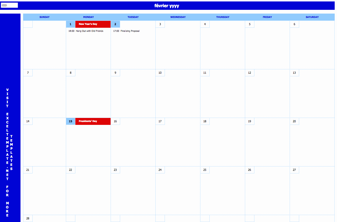 Monthly event Calendar Template Inspirational Monthly event Calendar Exceltemplate