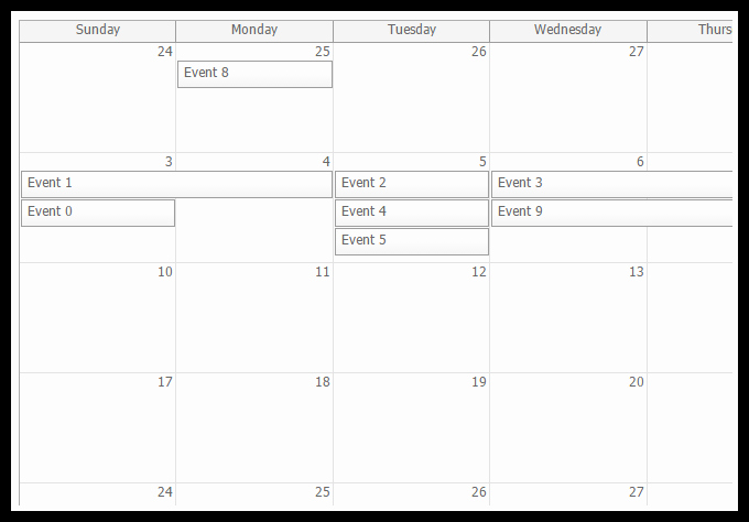 Monthly event Calendar Template Luxury HTML5 event Calendar Scheduler Codeproject
