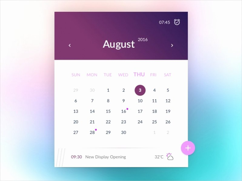 Monthly event Calendar Template New 17 Free Monthly Calendars Psd Vector Eps Excel Download