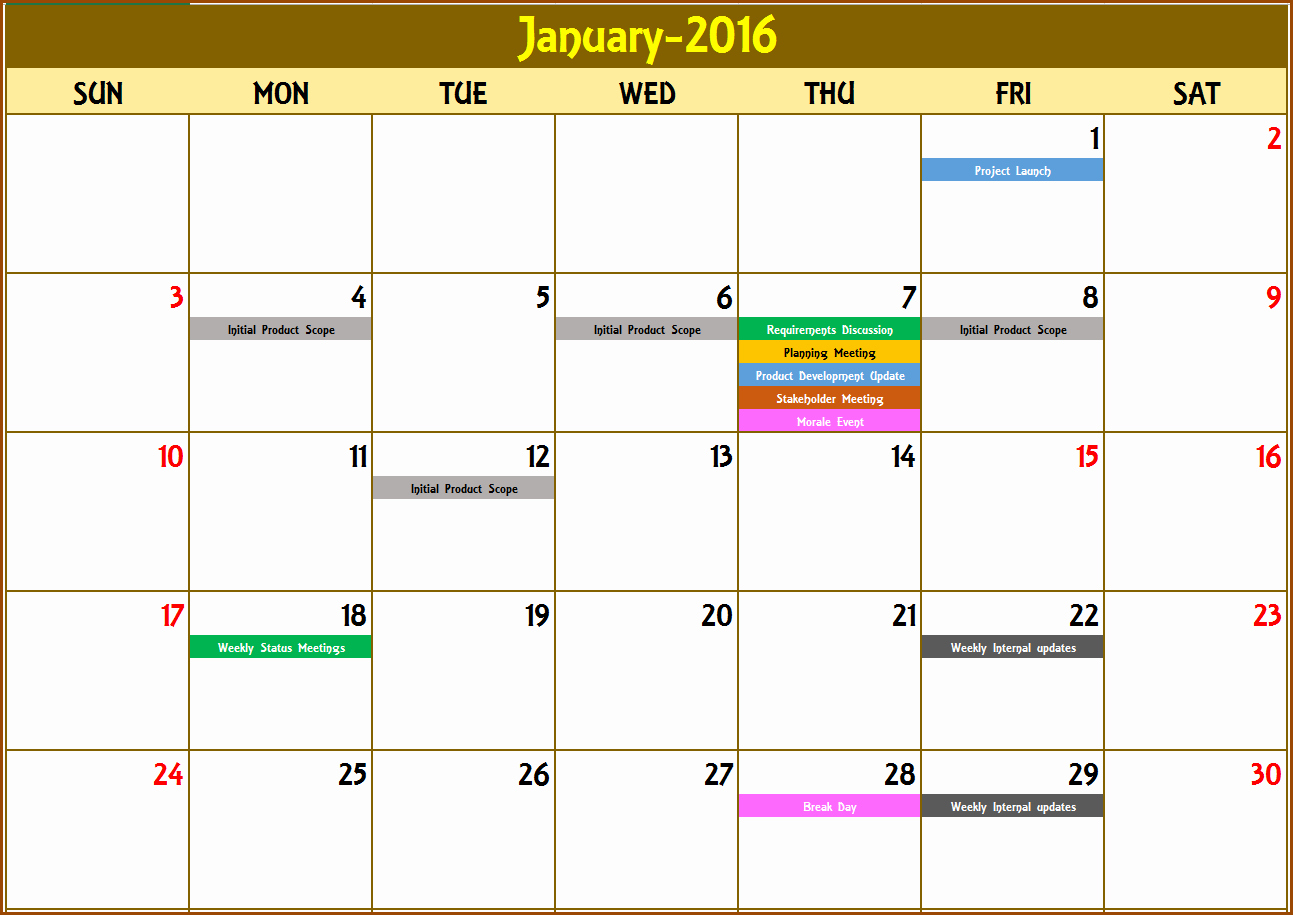 Monthly event Calendar Template New event Calendar Maker Excel Template V3 Support