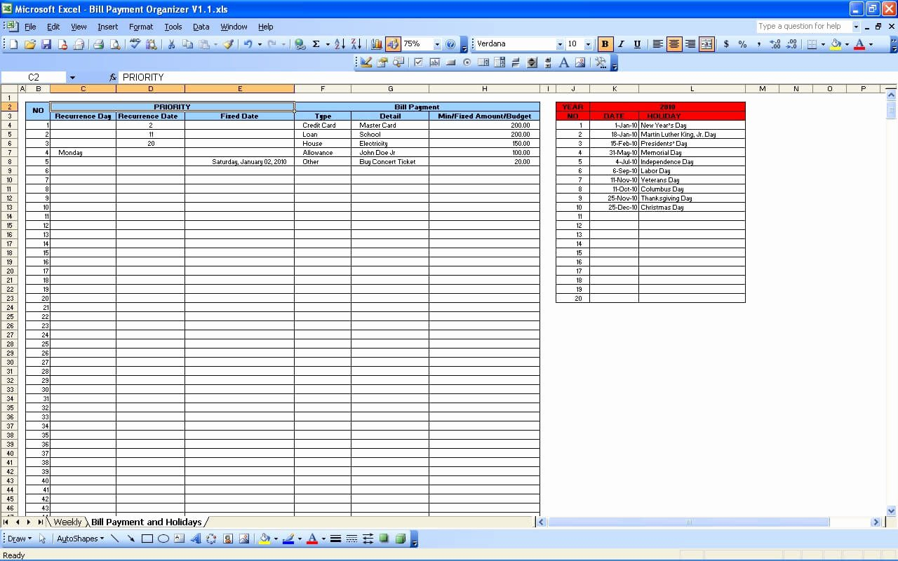 Monthly Payment Plan Template Awesome Bill Payment Calendar