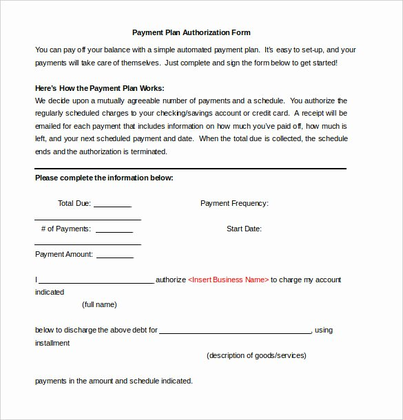 Monthly Payment Plan Template Beautiful Payment Plan Agreement Template 12 Free Word Pdf