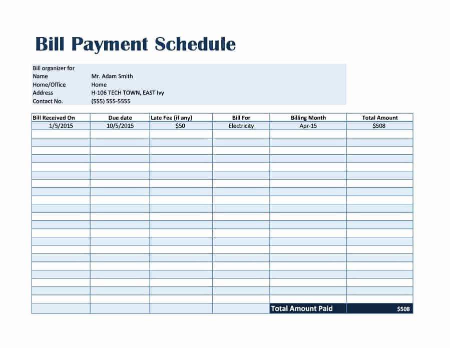 Monthly Payment Plan Template Lovely 33 Great Payment Plan Schedule Templates Template Archive
